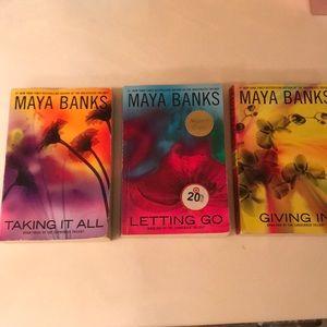 Romance paperback book series. Maya Banks.